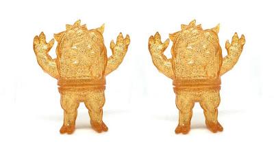 Ugly Onicorn Orange Glitter Edition Blank Sofubi Vinyl Figure by Rampage Toys x Konatsuya x Tenacious Toys
