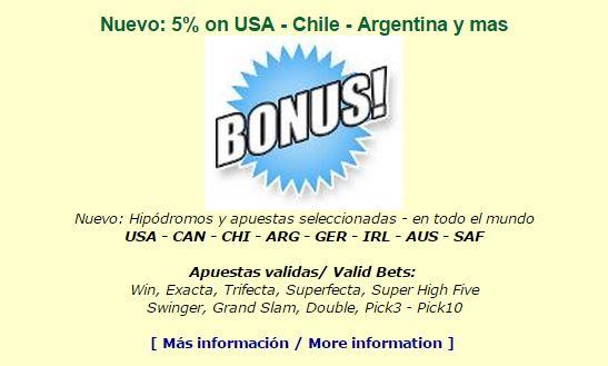 Cada Lunes 5% Bonus