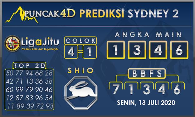 PREDIKSI TOGEL SYDNEY2 PUNCAK4D 13 JULI 2020