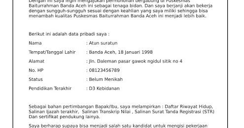 Contoh Cv Lamaran Kerja Bidan Pdf - BEST RESUME EXAMPLES