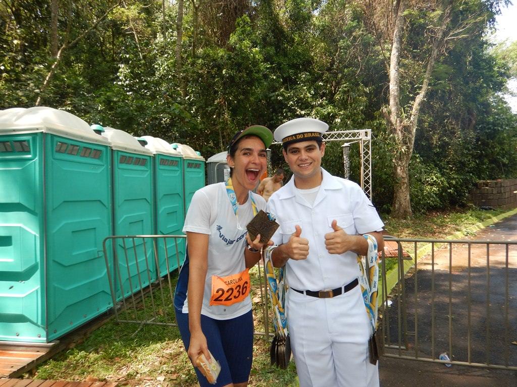 Maratona Internacional de Foz do Iguaçu, entrega das medalhas