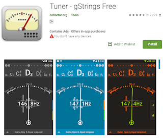 Aplikasi Stem Gitar Tuner-gStrings