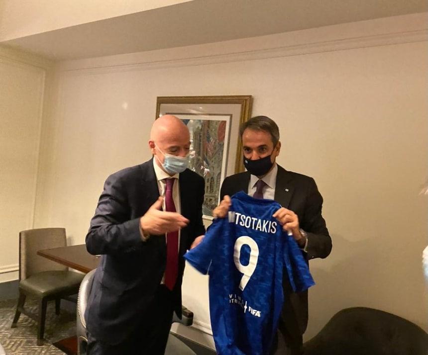 Συνάντηση Μητσοτάκη – Ινφαντίνο στη Νέα Υόρκη για το ποδόσφαιρο!