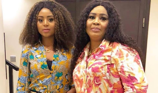 Wahala Dey! Check Out What A Fan Told Regina Daniels' Mother For Snapping In Bum Shorts