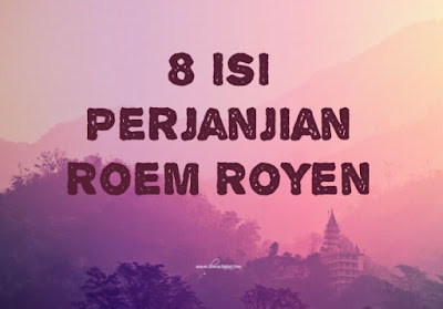 Isi Perjanjian Roem Royen
