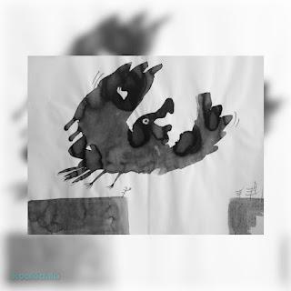 Πίνακας Γιώργου Αγγελίδη (μελάνι)