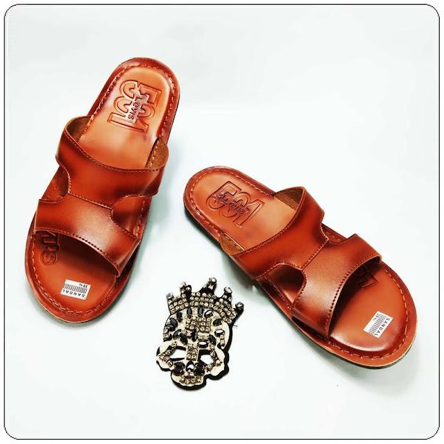 Pabrik | Grosir Sandal Kulit Imitasi- Levis CPC Sol DWS- Sandal Imitasi Kulit Pria