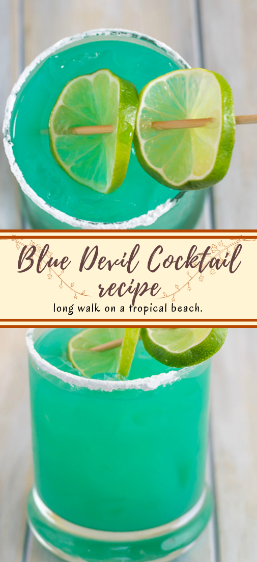 Blue Devil Cocktail recipe  #healthydrink #easyrecipe #cocktail #smoothie