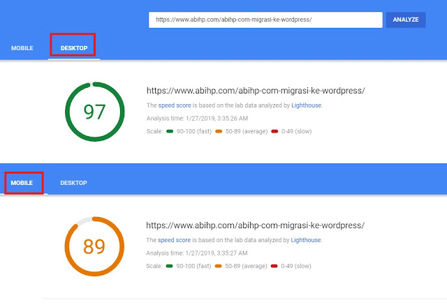 Pagespeed ABIHP