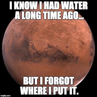 mars pernah punya air