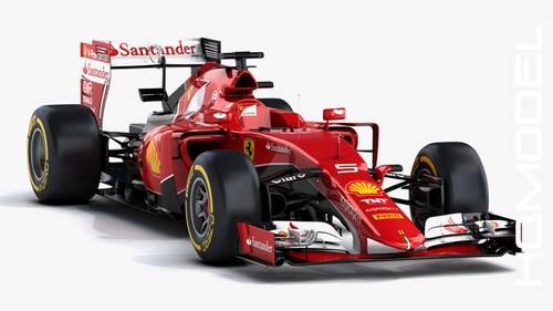 3dsMax高精度法拉利賽車3D模型下載v