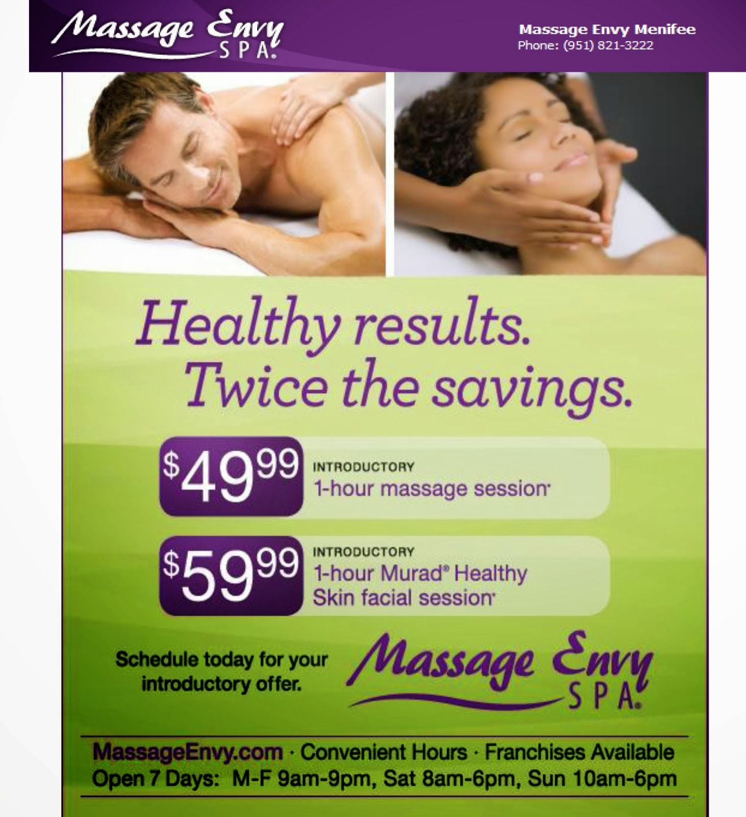 Massage envy $39 coupon