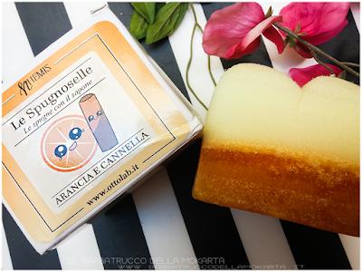 review Nhemis Cosmetics - spugnoselle - arancia cannella