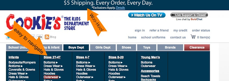 Back to School clothes shopping with Cookies.com