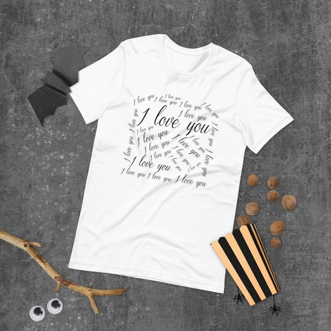 I Love You Shirt, Gift Shirt, Woman Shirt, Men's T-shirt