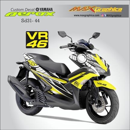 sticker decal motor yamaha aerox