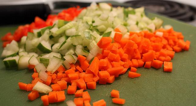 potongan sayuran