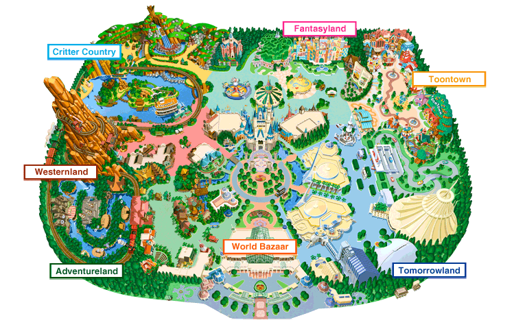 Disneyland California Map PDF - Bing