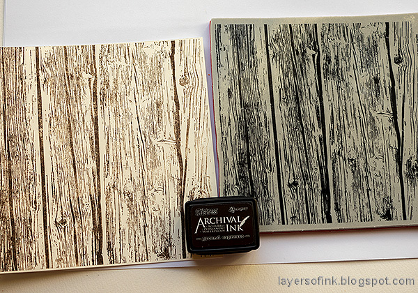 Layers of ink - Old Spooky House Tutorial by Anna-Karin Evaldsson. Stamp with SSS Wood Planks.