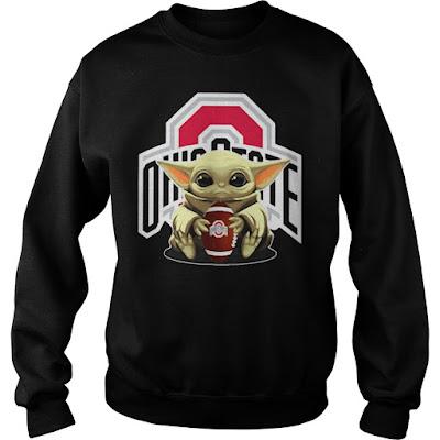 Baby Yoda hug Ohio State Buckeyes Hoodie, Baby Yoda hug Ohio State Buckeyes T Shirt