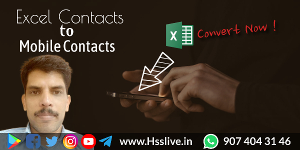How to convert contacts saved in Excel sheet to Android phone-Free Excel to VCF Tool