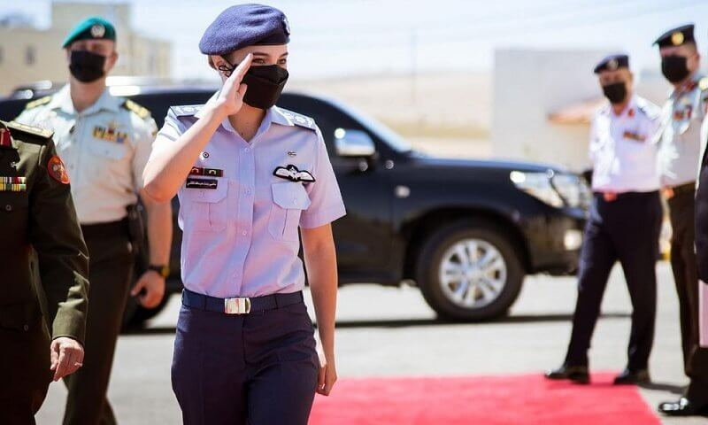 Princess Salma of Jordan is the first female jet pilot in the Jordanian Armed Forces