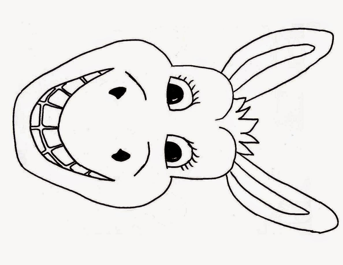 Funky Horse Face Coloring Page Composition Paper Horse2Bmask2B3