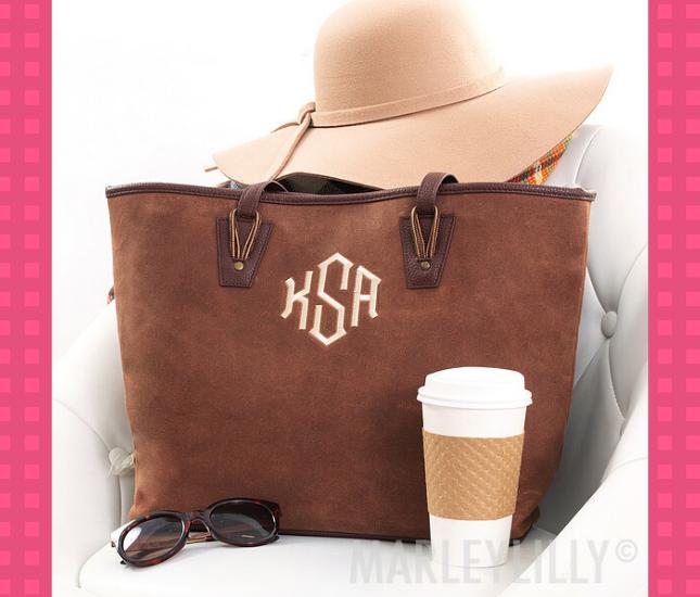 brown tote purse