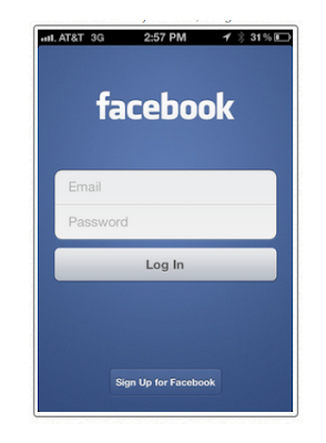 How I log out of my facebook account on iPhone