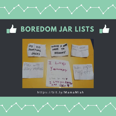 Boredom Jar Activity Lists