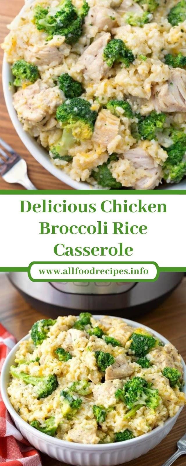 Delicious Chicken Broccoli Rice Casserole