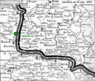Carte : Hébuterne sur le front de l'Artois