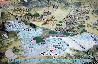 Plano de Hierápolis y Pamukkale.