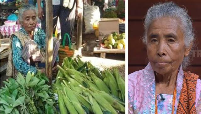 Punya Anak Jadi Bupati 2 Periode, Ibu Ini Tolak Kemewahan,Pilih di Kampung Jual Sayur