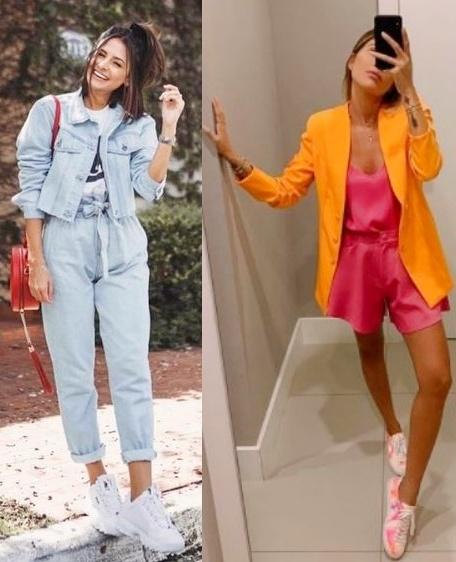 Guia de moda Looks estilosos com tênis, Viih Rocha, Vanessa Lemos