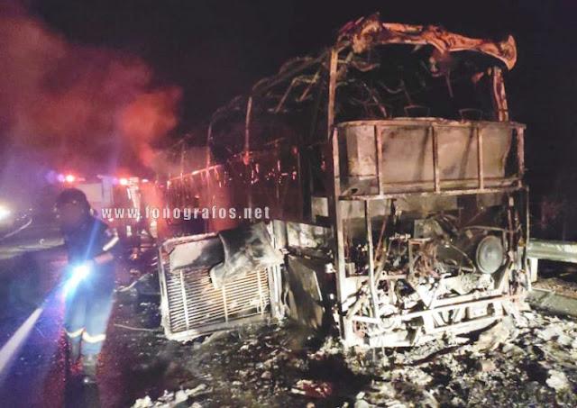 Φθιώτιδα: Λεωφορείο πήρε φωτιά στην Εθνική Οδό [ΦΩΤΟ]