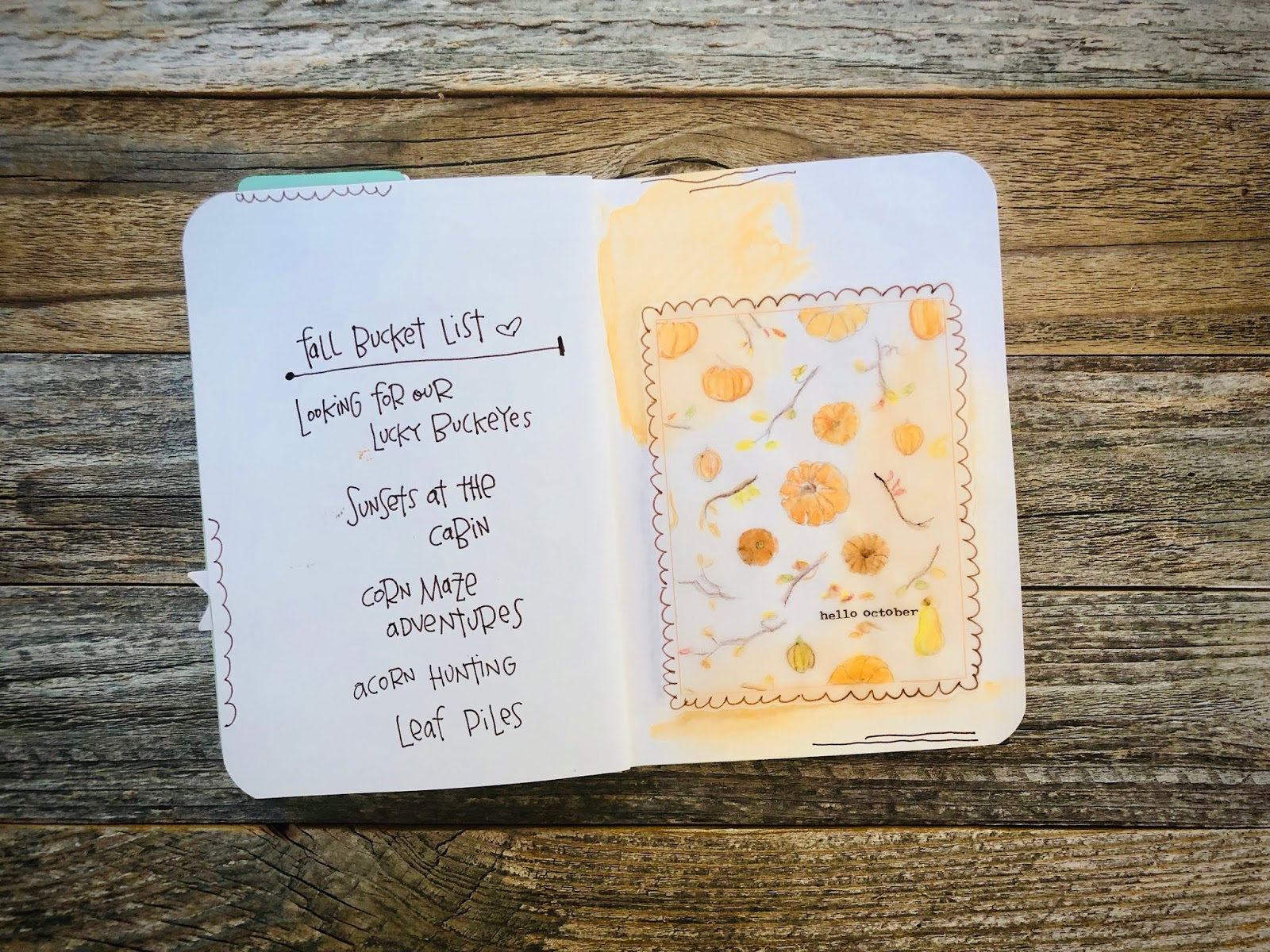 #Hello October #October #Pumpkins #journaling card #free #printable #Fall #Autumn