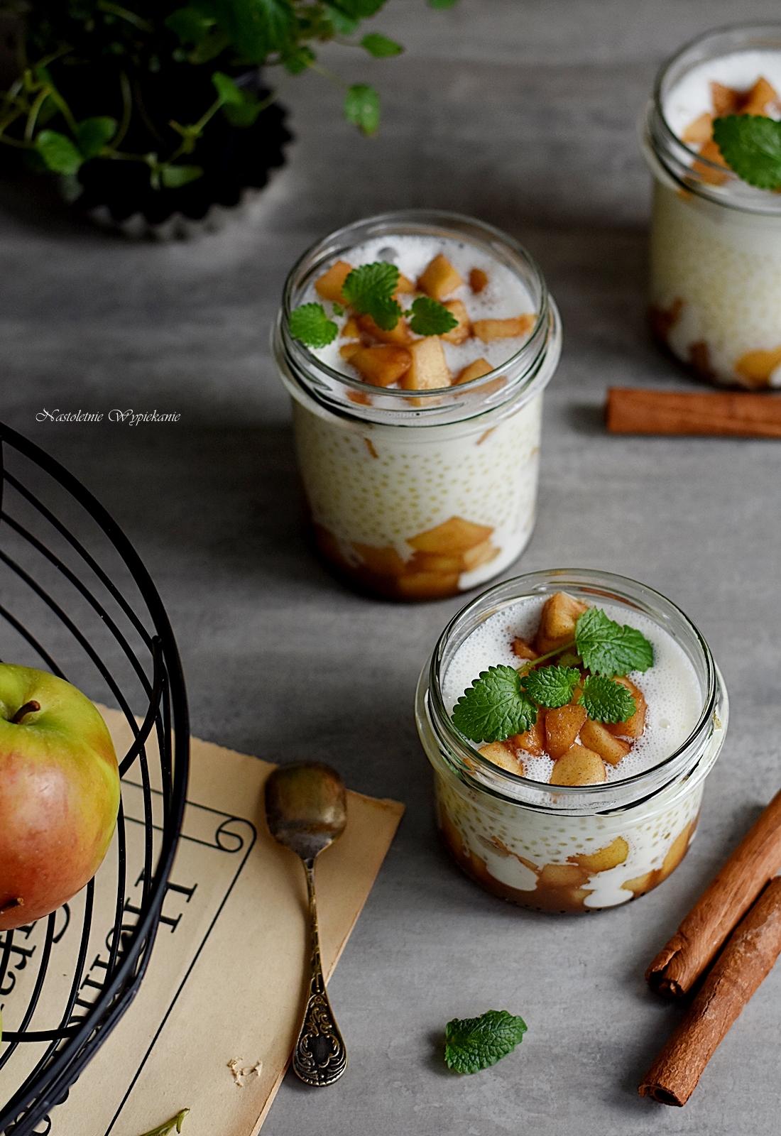 Pudding Z Tapioki Z Prazonymi Jablkami Nastoletnie Wypiekanie