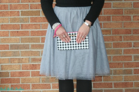 The tulle skirt is the latest trend and is the perfect statement piece for a Valentine's outfit.