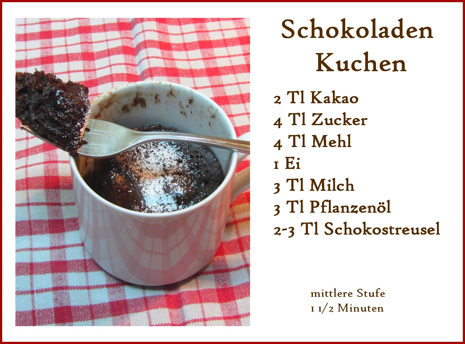 Soklein Sofein Tassenkuchen In 3 Minuten