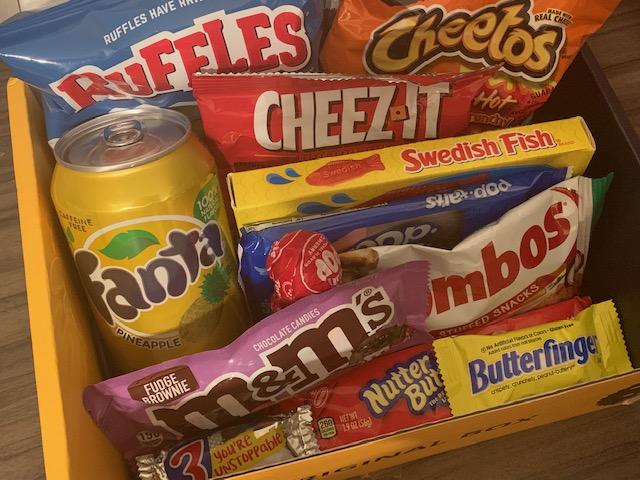 Snack Surprise Original box contents for USA