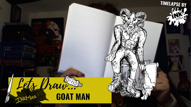 Drawing the Goat Man of Maryland - Exploring Cryptids Worldwide | Inktober