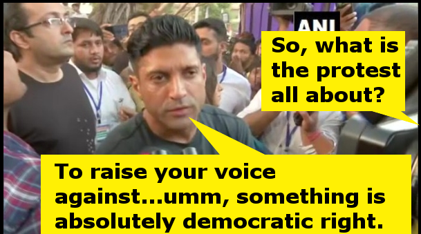 Farhan Akhtar's protest against Citizenship Amendment Act and NRC