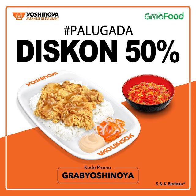 #Yoshinoya - #Promo Palugada Dapatkan Diskon 50% Pakai GrabFood