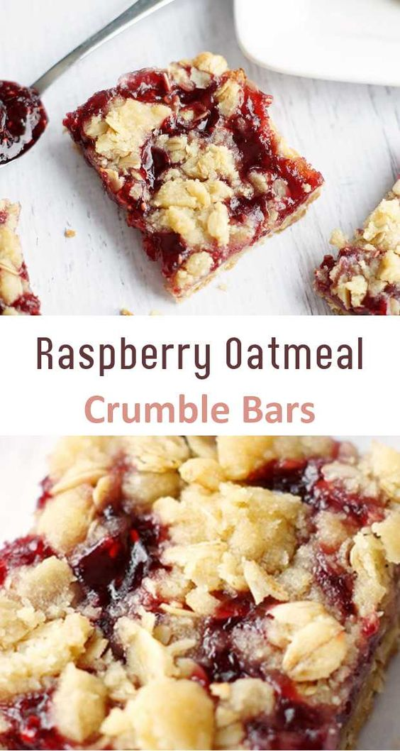 RASPBERRY OATMEAL CRUMBLE BARS