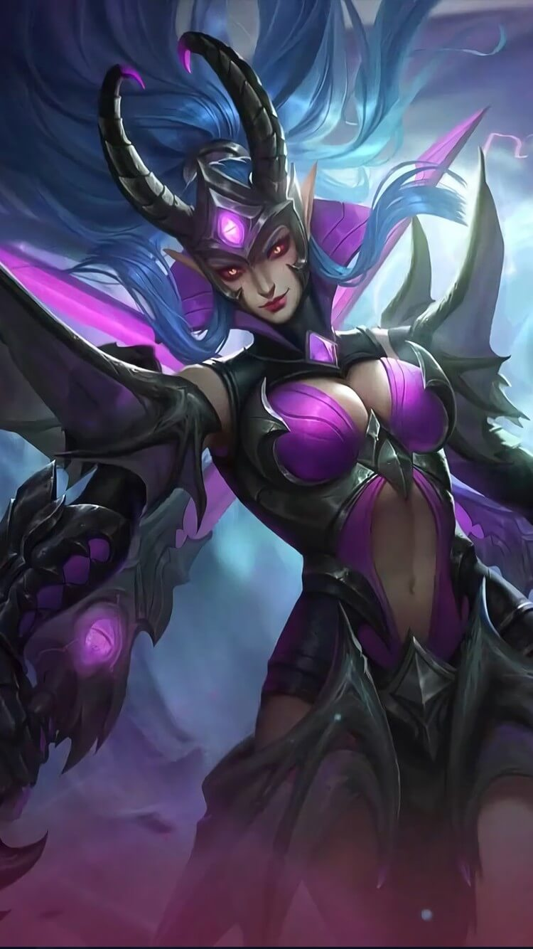 Wallpaper Karina Doom Duelist Skin Mobile Legends HD for Mobile