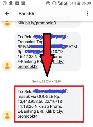 Bukti Transfer Adsense Via Bank