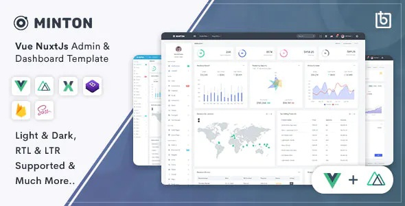 Best Vue Nuxt Admin & Dashboard Template
