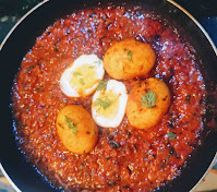 Made egg curry recipe in a pan
