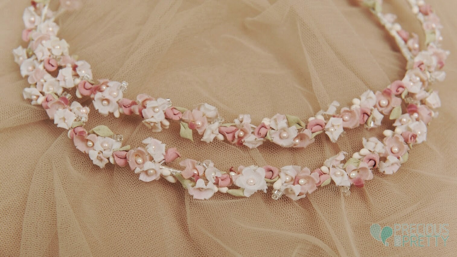 Bridal crowns with flowers